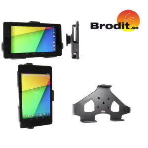 The Brodit Passive Car Holder has been specifically designed and manufactured for the Google Nexus 7 2013 and will give the perfect fit to your device and will hold it securely in place whilst you are driving, without scratching it.