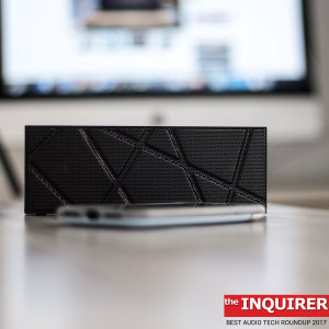 Enjoy rich and powerful sound without the need for wires with the stylish and portable BoomBrick Wireless Bluetooth Speaker in black