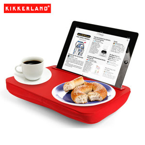 Use your tablet in bed, on the couch or on a plane all while you eat and more with the Kikkerland iBed Lap Desk in red. Great for students, travelers or anyone with a tablet computer.