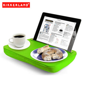 Use your tablet in bed, on the couch or on a plane all while you eat and more with the Kikkerland iBed Lap Desk in green. Great for students, travelers or anyone with a tablet computer.