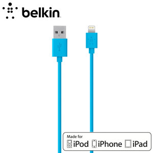 Make sure your lightning devices are always fully charged with the Belkin Sync Charge Lightning to USB Cable in blue for Apple Lightning compatible phones and tablets.