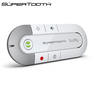 SuperTooth Buddy Bluetooth v2.1 Hands-free Visor Car Kit - White