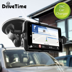 Hold your phone safely in your car with this fully adjustable DriveTime car holder. Includes a car charger for your Nokia Lumia 525/520