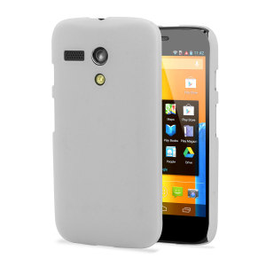 Personalise your Moto G with this white ultra thin back cover.