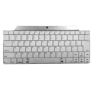 With a premium finish, this highly portable white and silver Bluetooth mini wireless keyboard fits into any environment for fast and efficient typing on your iOS, Android or Windows smartphone / tablet / PC.