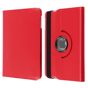 A lightweight red leather-style stand case. Offering perfect protection for your iPad Mini 3 / 2 / 1 while also offering a unique look and feel.