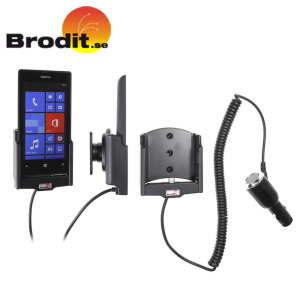 Charge and use your Nokia Lumia 520 safely in your vehicle with this Brodit Active Holder with Tilt Swivel.