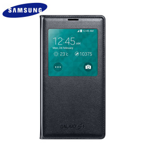 S View Premium Cover Officielle Samsung Galaxy S5 – Bleue Noire