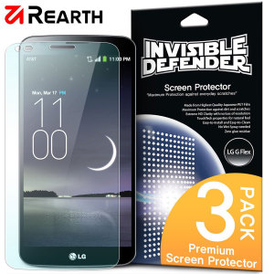 3 pack of multi-layered optical enhanced screen protectors for the LG G Flex.