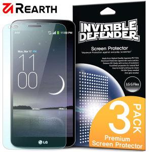 Proteja la pantalla de su LG G Flex con este pack de 3 protectores Rearth Invisible Defender multi capas.