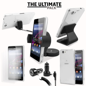 The ultimate Sony Xperia Z1 compact accessory pack contains must have items for your Z1 Compact. Designed to protect and store your Xperia Z1 compact at home, in the office and in the car.