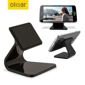 A fun and minimal desk phone stand using a special suction grip that doesn't leave any residue - ideal for hands-free conferencing, viewing videos or as a simple docking station with the Olixar Micro-Suction Smartphone Desk Stand.