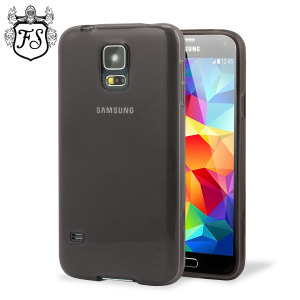 Custom moulded for the Galaxy S5, this smoke black FlexiShield case provides slim-fitting and durable protection against damage.
