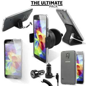 The Ultimate Pack for the Samsung Galaxy S5 consists of fantastic must have accessories designed specifically for the Galaxy S5.