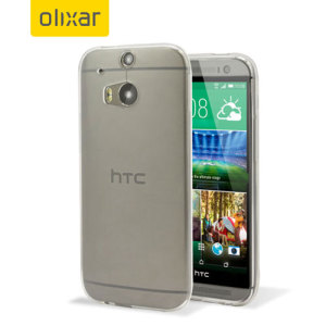 Coque HTC One M8 FlexiShield Olixar Ultra-Thin – 100% Transparente