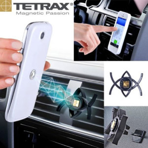 Magnetically attach and position your smartphone or sat nav securely in your car with the no-nonsense and easy-to-use Tetrax Smart Universal In-Car Phone Holder.
