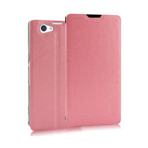 A sophisticated lightweight pink textured finish case with a suction cup fastener, for ease of use. Ideal to protect your Sony Xperia Z2 and also becomes a stand.