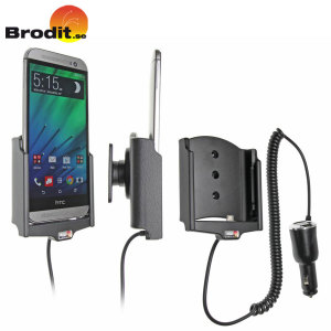 Charge and use your HTC One M8 in your vehicle with this Brodit active holder with tilt swivel.