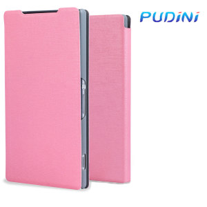 The Leather Style Pudini Flip Case in pink offers high protection for your Sony Xperia Z2. It provides a perfect fit and stylish faux leather design.