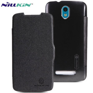 This HTC Desire 500 flip case in black from Nillkin is an ultra thin flip case that combines beauty with practicality.