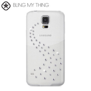 Dress up your Samsung Galaxy S5, making it sparkle and shine with this new Crystal Case from the Bling My Thing Milky Way Collection.
