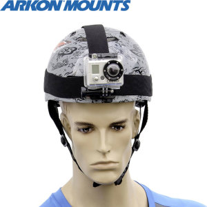 Strap your GoPro HERO3, HERO2, HERO or other small action camera to your head with this Arkon Head Strap Mount.
