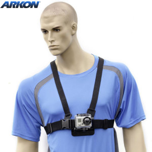 Strap your GoPro HERO3, HERO2, HERO or other small action camera to your chest with this Arkon Chest Strap Mount.