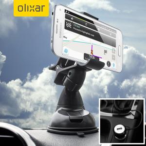 Houd je telefoon veilig in je auto met deze volledig verstelbare DriveTime Grip-It autohouder inclusief autolader voor je Galaxy S5.