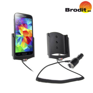 Charge and use your Samsung Galaxy S5 in your vehicle with this Brodit active holder with tilt swivel.