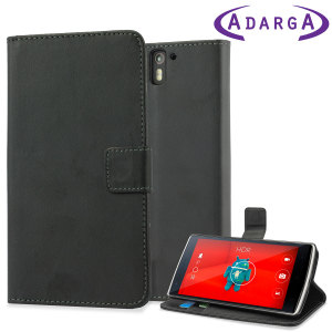 A sophisticated lightweight black leather-style case with a magnetic fastener, for ease of use. The Adarga leather-style OnePlus One wallet stand case offers perfect protection and supreme styling.