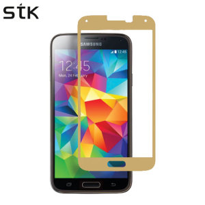 STK Samsung Galaxy S5 Tempered Glass Screen Protector - Gold
