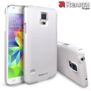 Provide your Samsung Galaxy S5 with ultra-thin, tough snap-on protection with this Ringke Slim Dot SF white polycarbonate case.