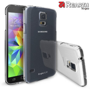 Provide your Samsung Galaxy S5 with ultra-thin, tough snap-on protection with this Ringke Slim crystal polycarbonate case.