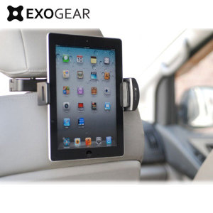 "The ExoMount Tablet Headrest Mount lets you securely and effortlessly attach your 7""-10.1"" tablet to any car and to adjust the device for the perfect viewing angle thanks to its 360° rotation mechanism. Watch films or play games while sitting comfortably."