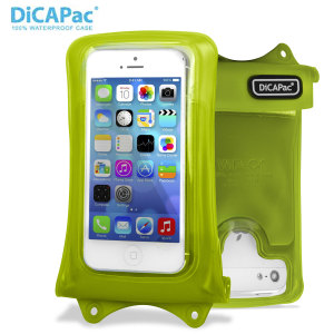 "DiCAPac Universal Waterproof Case for Smartphones up to 4.8"" - Green"