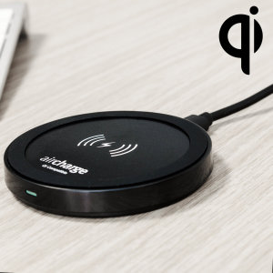 Wirelessly charge your Qi compatible smartphone or tablet 'on the move' with the aircharge Qi Travel Wireless Charging Pad. Also includes UK mains adapter.