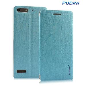 Funda Huawei Ascend G6 Pudini con Tapa y Soporte - Azul