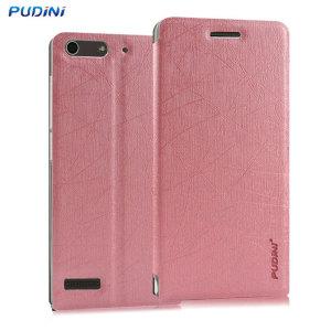 Funda Huawei Ascend G6 Pudini con Tapa y Soporte - Rosa