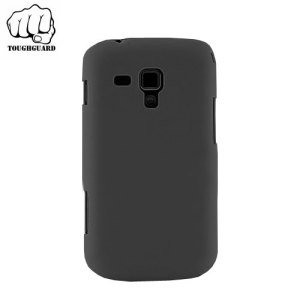 A protective and slimline shell case in black by ToughGuard for your Samsung Galaxy Trend Plus.