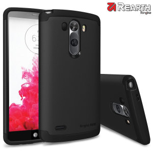 Provide your LG G3 with slim yet heavy duty protection with this black Ringke dual-layered armour case. The stylish design and soft touch finish preserve the aesthetics and feel of the G3 perfectly.