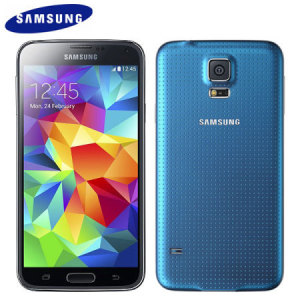 "Featuring 16GB of internal memory, an 8MP camera, a 4.5"" Super AMOLED screen, 4G capabilities and new innovative features such as the fingerprint scanner, the blue Samsung Galaxy S5 Mini helps to simplify our lives and does it with style."