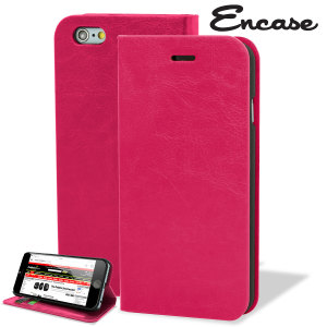 Protect your iPhone 6S / 6 with this durable and stylish hot pink leather-style wallet case. What's more, this case transforms into a handy stand to view media.
