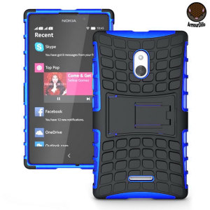 Protect your Nokia XL with this blue ArmourDillo Case, comprised of an inner TPU case and an outer impact-resistant exoskeleton. This case literally takes some beating!