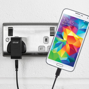 Charge your Samsung Galaxy S5 quickly and conveniently with this compatible 2.4A high power charging kit. Featuring mains adapter and USB cable.