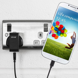Charge your Samsung Galaxy S4 quickly and conveniently with this compatible 2.4A high power charging kit. Featuring mains adapter and USB cable.