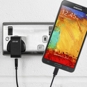 Charge your Samsung Galaxy Note 3 quickly and conveniently with this compatible 2.4A high power charging kit. Featuring mains adapter and USB cable.