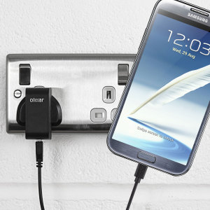 Charge your Samsung Galaxy Note 2 quickly and conveniently with this compatible 2.4A high power charging kit. Featuring mains adapter and USB cable.