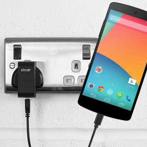 Charge your Google Nexus 5 quickly and conveniently with this compatible 2.4A high power charging kit. Featuring mains adapter and USB cable.