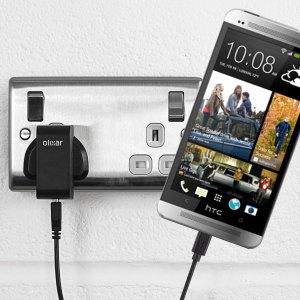 Charge your HTC One M7 quickly and conveniently with this compatible 2.4A high power charging kit. Featuring mains adapter and USB cable.