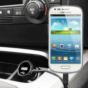 Keep your Samsung Galaxy S3 fully charged on the road with this high power 2.4A Car Charger, featuring extendable spiral cord design. As an added bonus, you can charge an additional USB device from the built-in USB port!